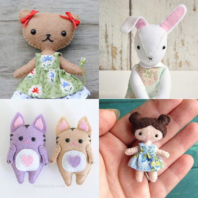 Felt Toy Sewing Patterns Make Your Own Stuffed Animals Dolls