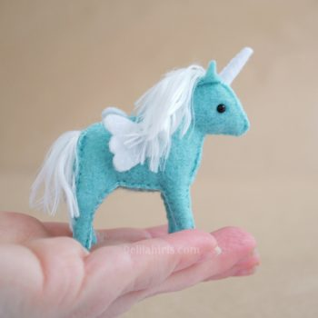 miniature felt unicorn pattern