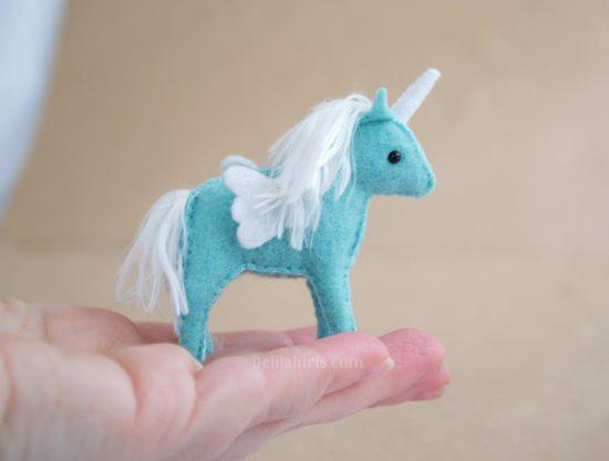 miniature felt unicorn pattern