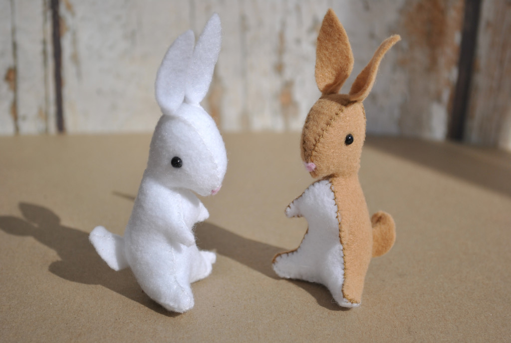 felt bunny toy ornament