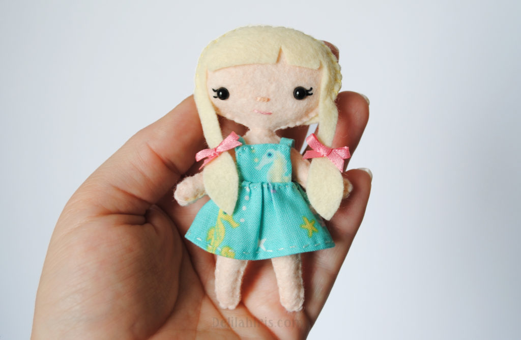 mini doll sewing pattern