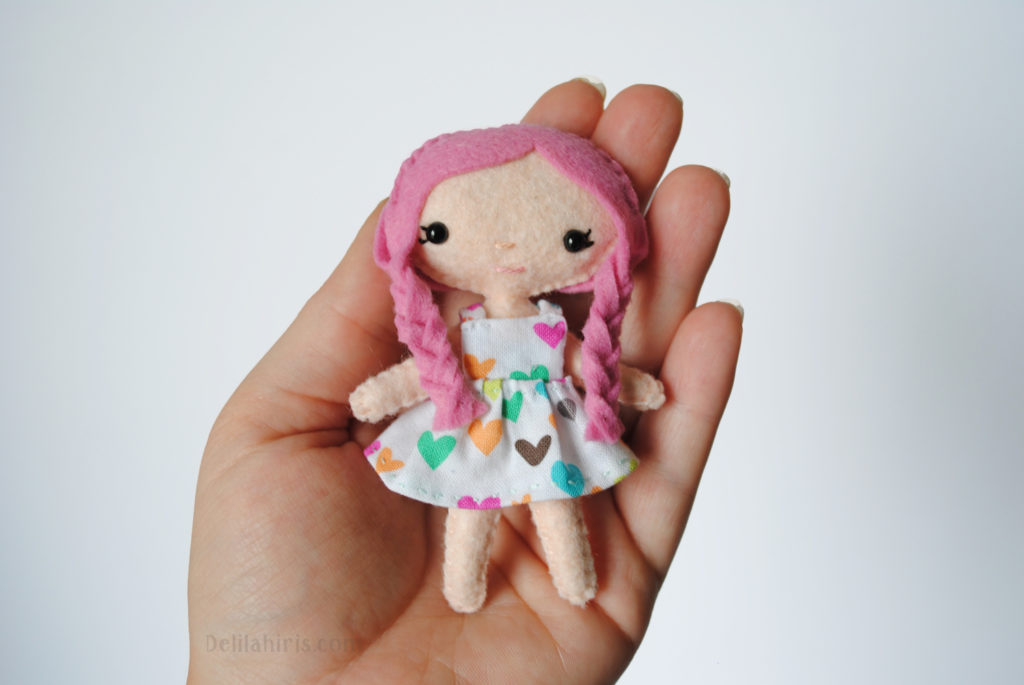 graphic about Free Printable Felt Doll Patterns identified as Printable PDF Doll Routine - Lola The Mini Pocket Doll