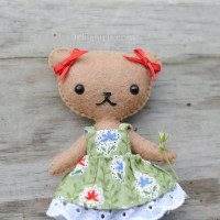 teddy bear doll sewing pattern