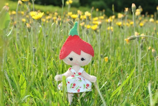 felt doll flower fairy