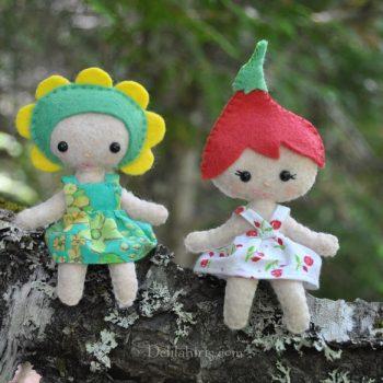 felt flower pixies