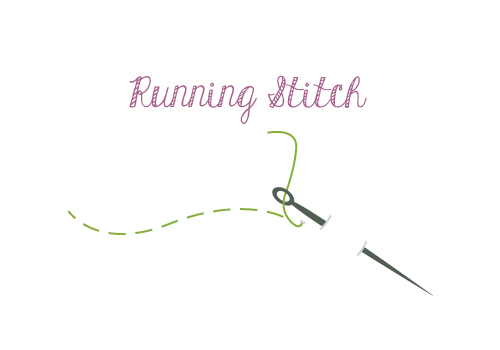 Hand Sewing Running Stitch