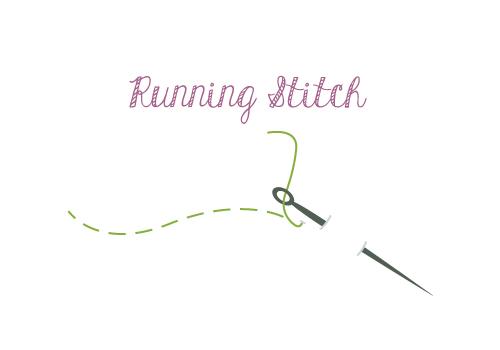 Hand Sewing Running Stitch