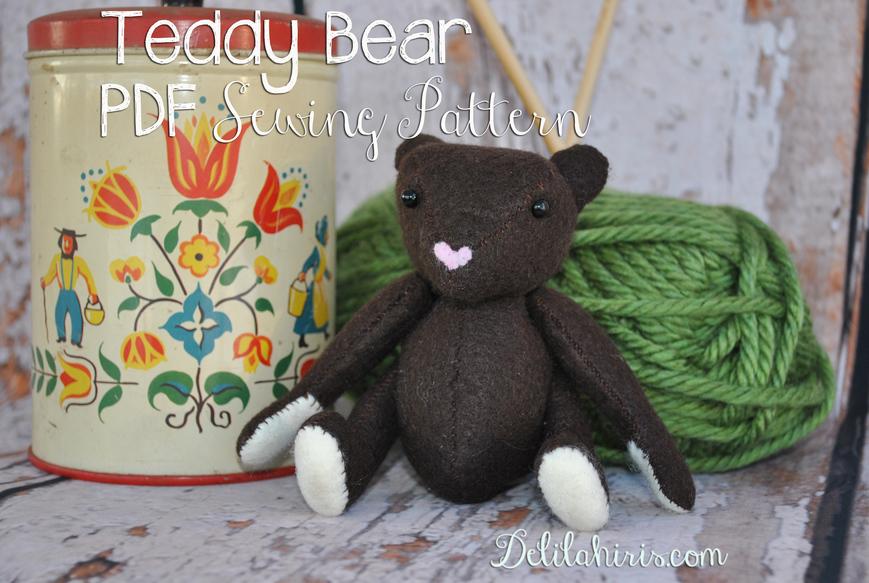 Teddy bear sewing pattern delilah iris teddy bear pattern jeuxipadfo Images