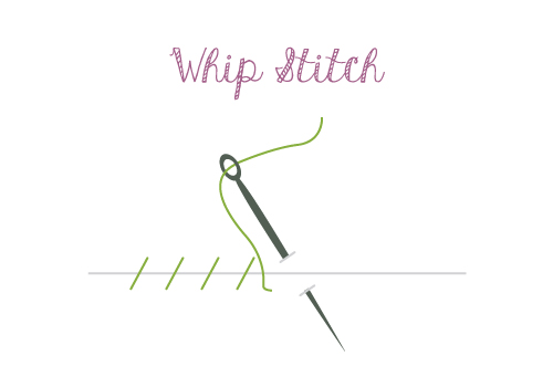 hand sewing whip stitch