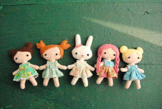 Handmade Custom Felt Dolls