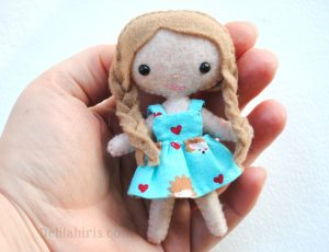 mini felt doll pattern