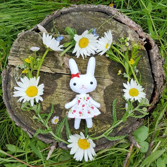 mini bunny doll pattern