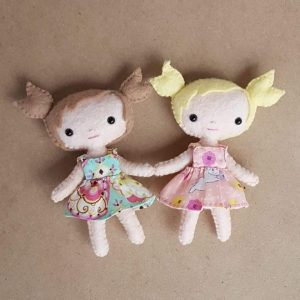 tiny felt doll pattern