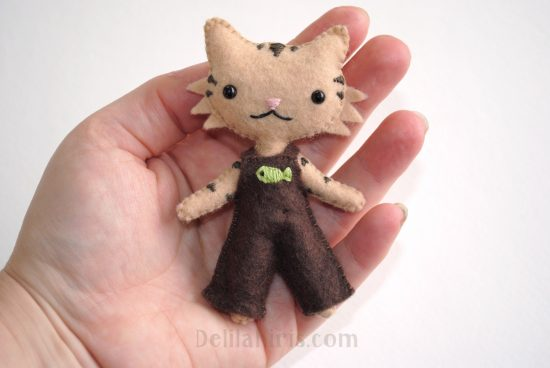 cat doll sewing pattern