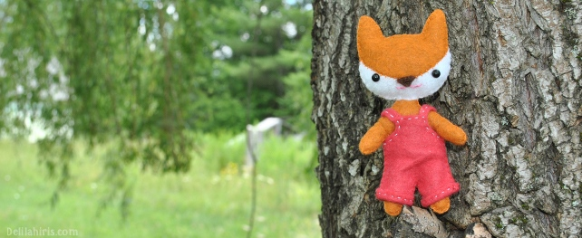mini felt fox doll