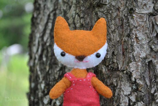 fox doll sewing pattern