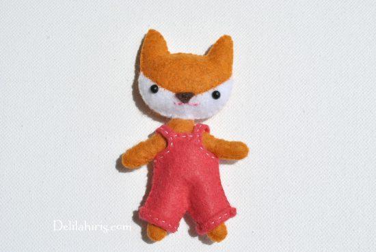 mini felt fox doll pattern