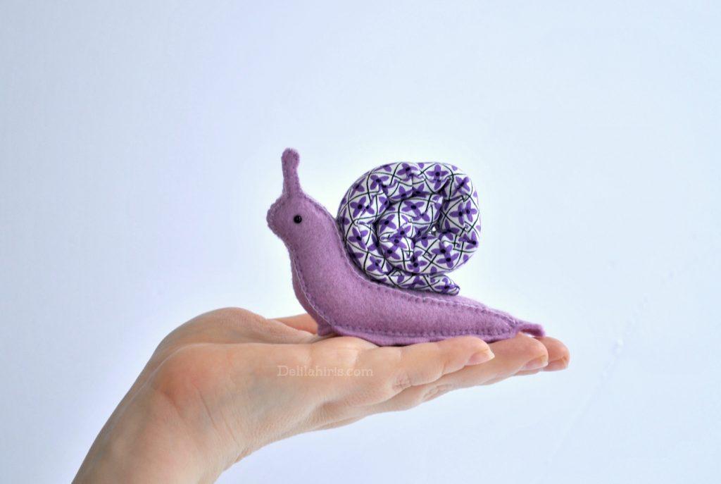 Snail Toy Sewing Pattern - Delilah Iris