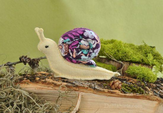 felt snail pattern
