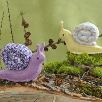 Snail sewing pattern