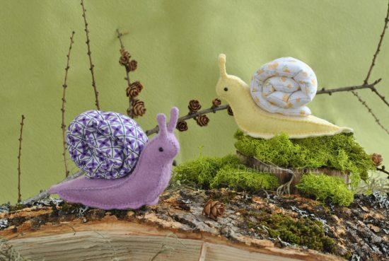 Snail sewing pattern