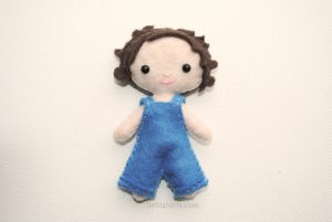 Miniature Felt Doll pattern
