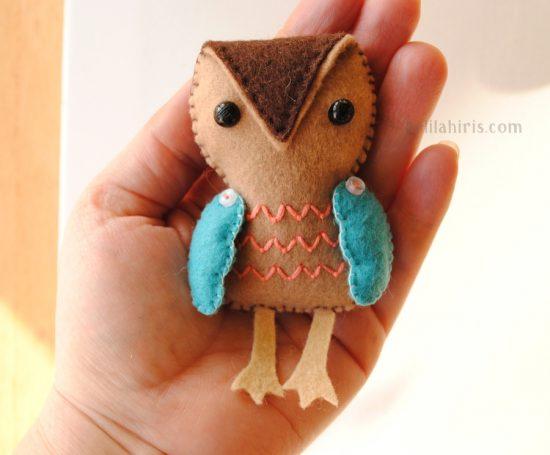 Felt Owl Doll
