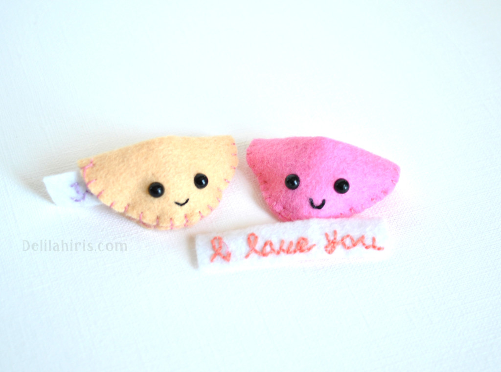 kawaii felt fortune cookies