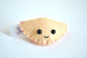 kawaii felt fortune cookie