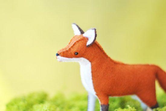 woodland felt fox pattern