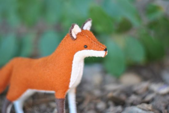 stuffed felt fox pattern