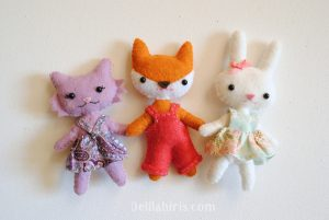 mini felt animal dolls