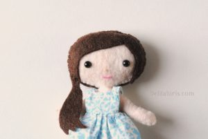 mini doll felt pattern
