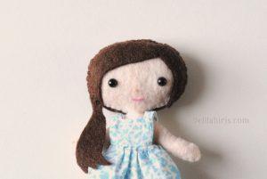 mini doll felt pattern
