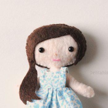 mini felt doll pattern
