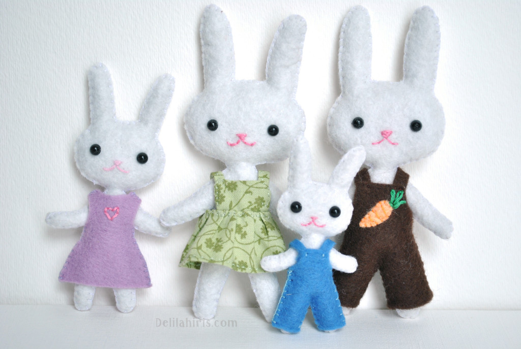 felt bunny dolls