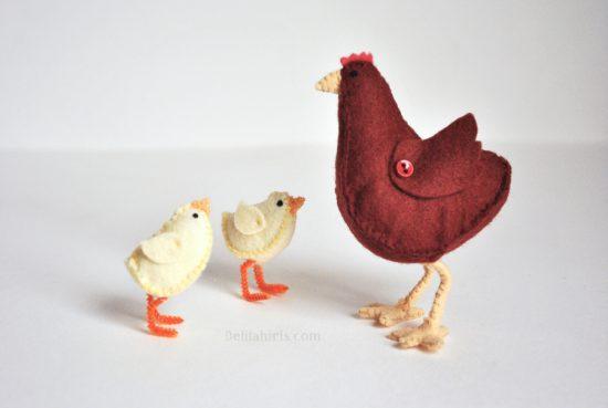 chicken sewing pattern