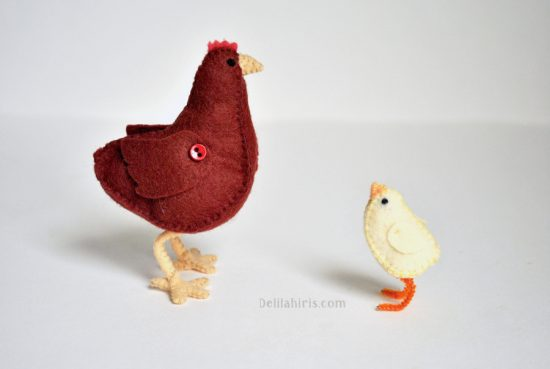 felt chicken stuffed animal pattern