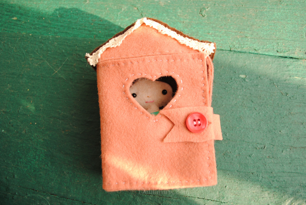 Tiny Felt Doll House Sewing Pattern Delilah Iris