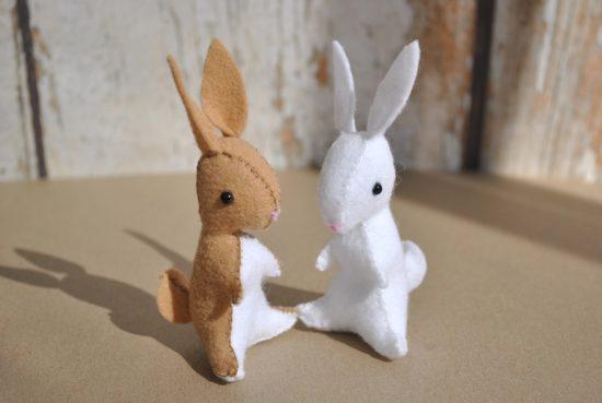 felt bunny sewing pattern