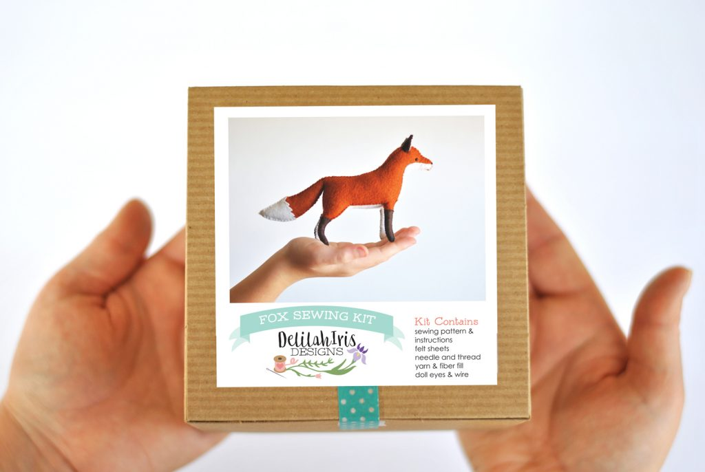 diy felt fox craft kit