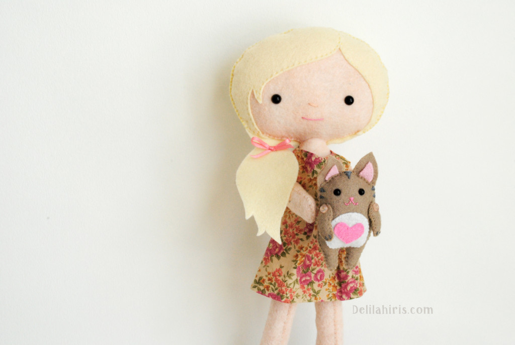 cat and doll sewing pattern