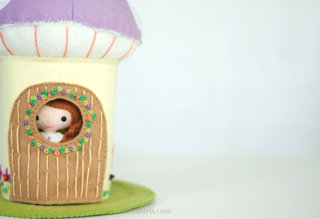 mushroom doll house