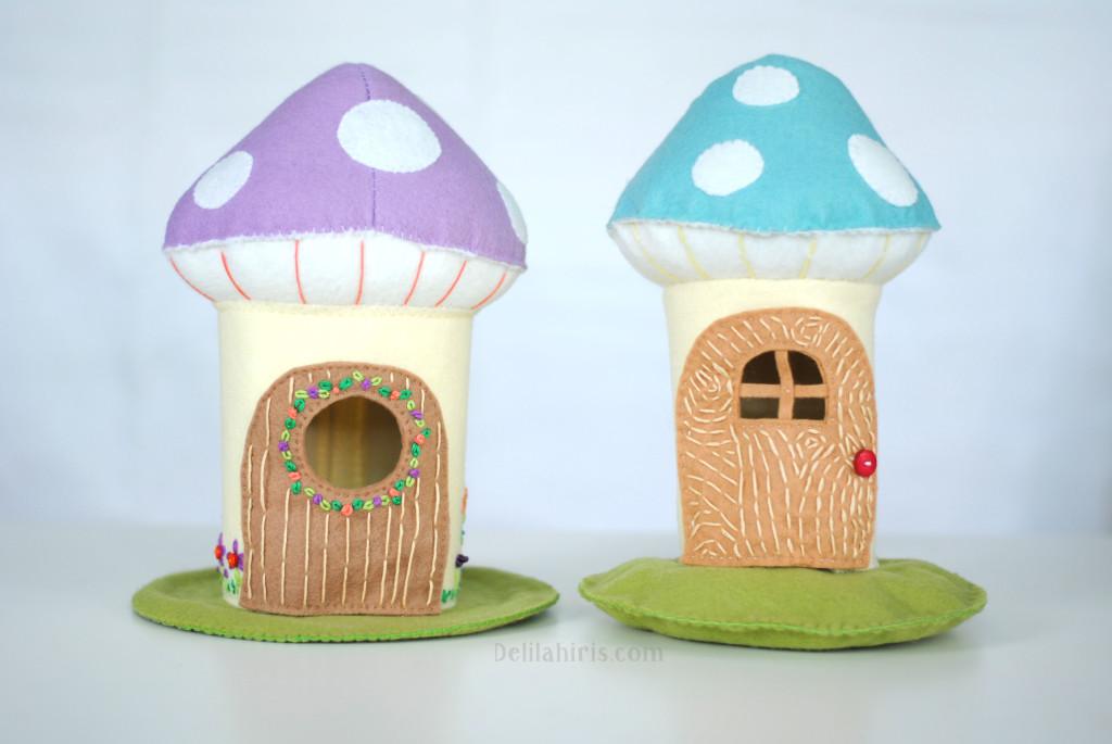 mushroom dollhouses