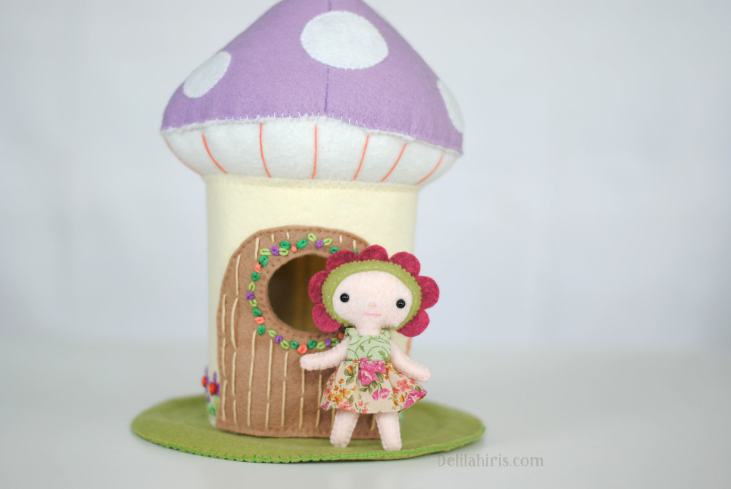 felt mushroom house