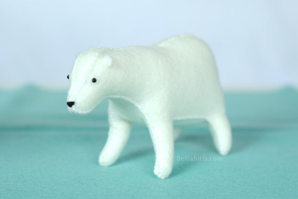 felt polar bear