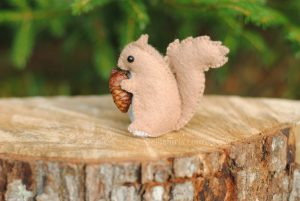 felt squirell stuffed animal