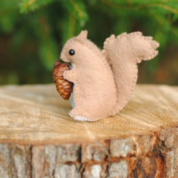 felt squirell sewing pattern