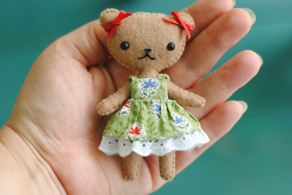 Teddy Bear Doll Sewing Pattern - Delilah Iris
