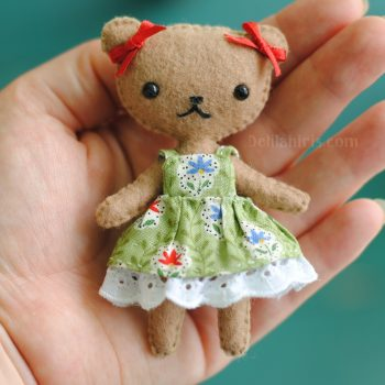felt teddy bear doll pattern